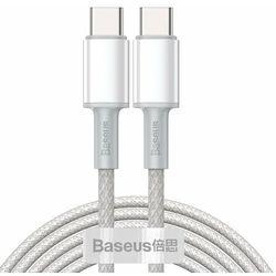 Baseus kabel USB Typ C - USB Typ C szybkie ładowanie Power Delivery Quick Charge 100 W 5 A 2 m biały (CATGD-A02)