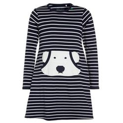 Fred's World by GREEN COTTON BEAR STRIPE DRESS Sukienka z dżerseju navy/cream