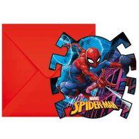 Pozostałe wyposażenie domu, Zaproszenia urodzinowe Spiderman Team Up - 6 szt.