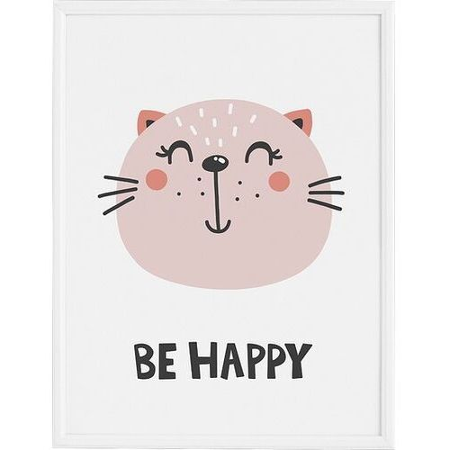 Plakaty, Plakat Be Happy 30 x 40 cm