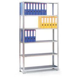 Regał na segregatory COMPACT, 8 półek, 2550x1250x300 mm, ocynk, podstawowy