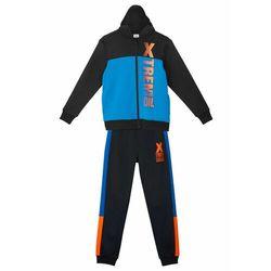 Dres sportowy chłopięcy (kompl. 2-częściowy) bonprix czarno-lazurowy niebieski