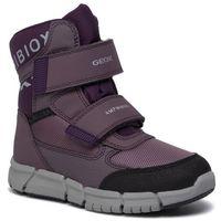 Kozaki dziecięce, Śniegowce GEOX - J Flexyyper G.B Abx A J94APA 0FU54 C8UG8 S Lt Prune/Purple