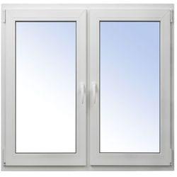 Okno PCV rozwierne + rozwierno-uchylne 1165 x 1135 mm symetryczne białe