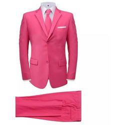 2-częściowy garnitur męski z krawatem różowy rozmiar 46