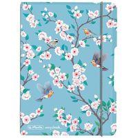 Notesy, Notatnik Notes A6 My.Book Flex PP z gumką HERLITZ - Ladylike Birds