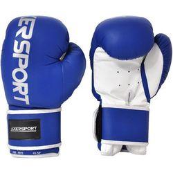 Rękawice bokserskie AXER SPORT A1332 Niebiesko-Biały (14 oz) + Zamów z DOSTAWĄ JUTRO!