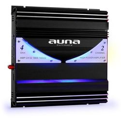 Auna AMP-CH02 2-kanałowy wzmacniacz samochodowy 190W RMS 1400W max. Zamów ten produkt do 21.12.16 do 12:00 godziny i skorzystaj z dostawą do 24.12.2016
