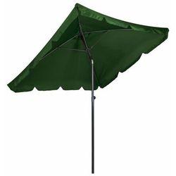 Parasol ogrodowy, skośny, składany, zielony, 200 cm