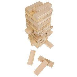 Drewniana wieża do układania duża, gra zręcznościowa, Goki HS 530