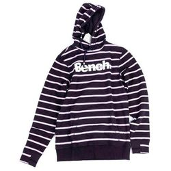 bluza BENCH - Her. Printed Stripe Corp Hoodie Essentially Navy (BL11341)