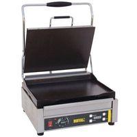 Grille gastronomiczne, Grill kontaktowy żeliwny pojedyńczy gładki | 360x280mm | 2200W
