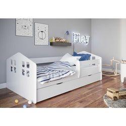 Łóżko dla dziecka, barierka ochronna, kacper, biały, mat