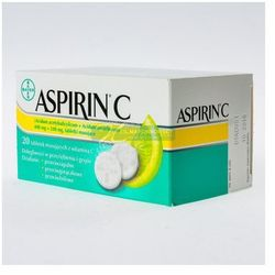 Aspirin C 20 tabletek musujacych