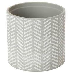 Doniczka ceramiczna C21 GoodHome ozdobna 12 cm szara