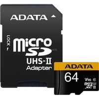 Karty pamięci, ADATA Premier ONE V90 64GB MicroSDXC UHS-II Klasa 10 pamięć flash