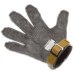 Rękawica metalowa z brązowym paskiem, krótka, rozmiar XXS | GIESSER, 9590 00