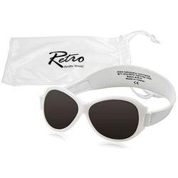 Okulary przeciwsłoneczne UV dzieci 2-5lat RETRO BANZ - White