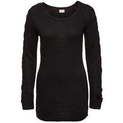Sweter dzianinowy bonprix czarny