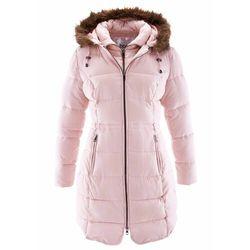 Krótki płaszcz z kapturem, na podszewce bonprix pastelowy jasnoróżowy