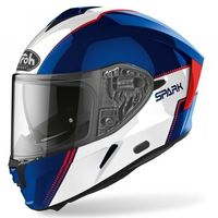 Kaski motocyklowe, AIROH KASK INTEGRALNY SPARK FLOW BLUE/RED GLOSS