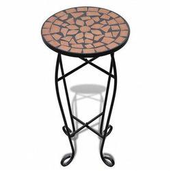 Terakotowy stolik z mozaikowym blatem - Cadix