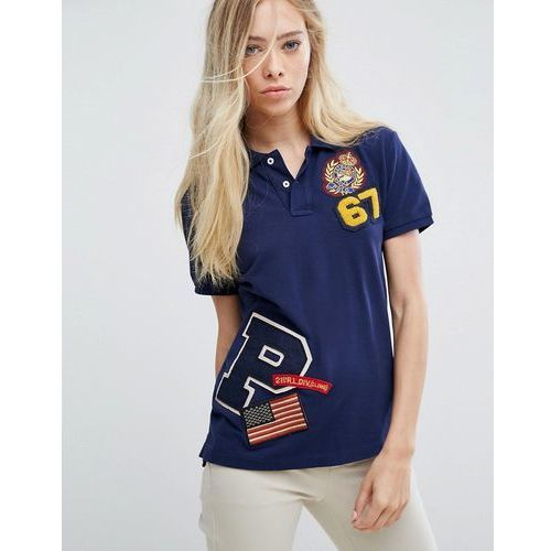 Koszule damskie, Polo Ralph Lauren Patch Polo Shirt - Navy