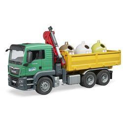BRUDER ciężarówka 3753 MAN TGS z oddzielnymi kontenerami na odpady