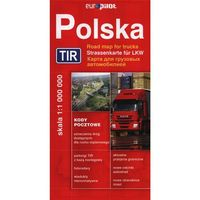 Mapy i atlasy turystyczne, Polska TIR Mapa drogowa 1:1 000 000 (opr. miękka)