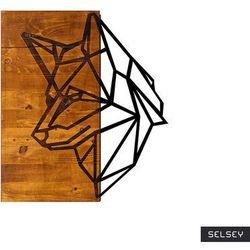 SELSEY Dekoracja ścienna Kerpose 50x58 cm czarna