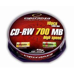 Esperanza CD-RW/10/Cake 700MB 12x Darmowy odbiór w 16 miastach!