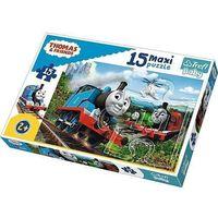 Puzzle, Puzzle 15 Maxi Tomek i przyjaciele Pędzące lokomotywy