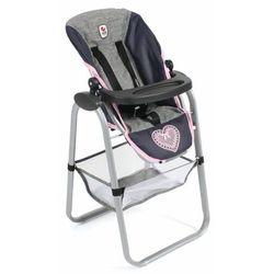 Bayer Chic krzesełko do karmienia lalki, niebiesko-szaro-różowe