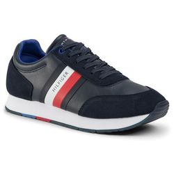 Sneakersy TOMMY HILFIGER - Corporate Leather Flag Runner FM0FM02602 Desert Sky DW5