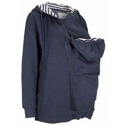 Bluza rozpinana ciążowa z wstawką na nosidełko niemowlęce bonprix ciemnoniebieski melanż
