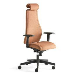 Krzesło biurowe LANCASTER, wysokie oparcie, miedziany