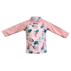Bluzka kąpielowa koszulka dzieci 120cm filtr UV50+ - Pink Floral \ 120cm