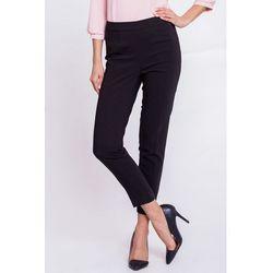 Czarne spodnie zapinane na suwak - Bialcon
