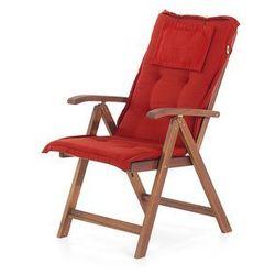 19 części - Meble ogrodowe - lite drewno ceglaste poduszki TOSCANA