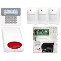 Czujki alarmowe, Alarm do domu firmy PERFECTA na telefon SMS + Manipulator PRF-LCD + 3x Czujnik ruchu + Akcesoria