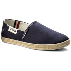 Espadryle TOMMY HILFIGER - JEANS Summer Slip On Shoe EM0EM00027 Ink 006