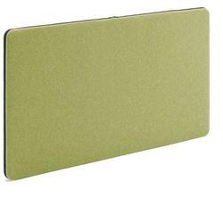 Ścienny panel dźwiękochłonny Zip, 1200x650 mm, zielony, czarny suwak