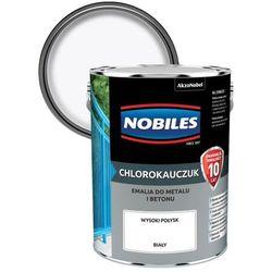 Emalia chlorokauczukowa Nobiles do metalu i betonu biała 5 l