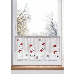 Zazdrostka z bawełny organicznej z bożonarodzeniowym motywem bonprix biało-czerwono-szary