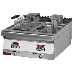 Frytownica elektryczna 2-komorowa - poj. 2x10l | KROMET 700.FE-2x10f