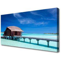 Obraz na Płótnie Morze Plaża Dom Architektura