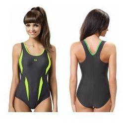 GWINNER Strój kąpielowy damski jednoczęściowy (grafit/zielony) (GW10185/1)