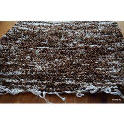 Chodnik bawełniany ręcznie tkany brązowo-rudy 50x100 cm