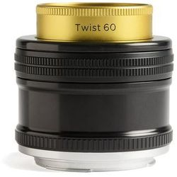 Lensbaby LB-7 °C Twist 60 EF o wyglądzie z przyłączem obudowa do, złoto