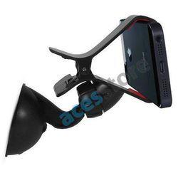 Uniwersalny uchwyt samochodowy do urządzeń 5 cali (telefon, GPS) Czarny - Czarny